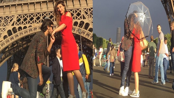 farhan saeed urwa hocane wedding proposal eiffel tower