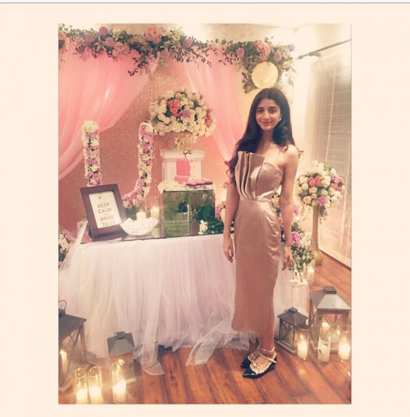 mawra hocane on urwas bridal shower