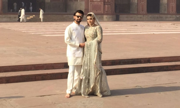 urwa and farhan nikkah at badshahi mosque