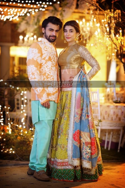 urwa and farhan wedding qawali night picture