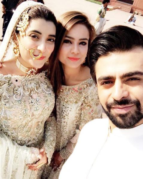 urwa farhan nikkah selfie