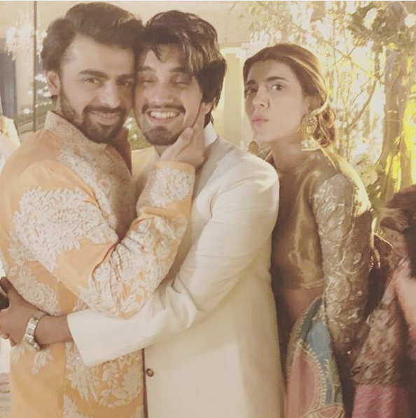 uzair jaswal on urwa farhan wedding