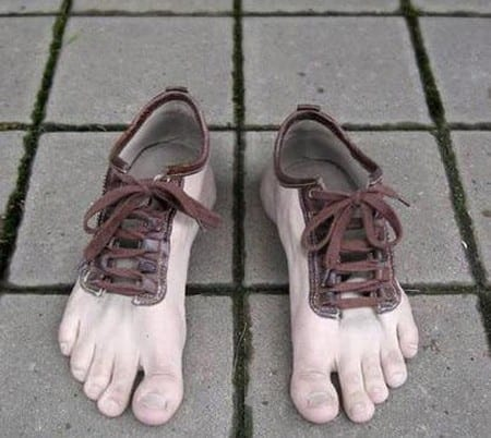 Funky feet shoes