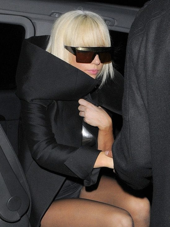 Lady Gaga Black Coat