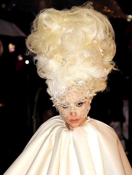Lady Gaga weird hair Style
