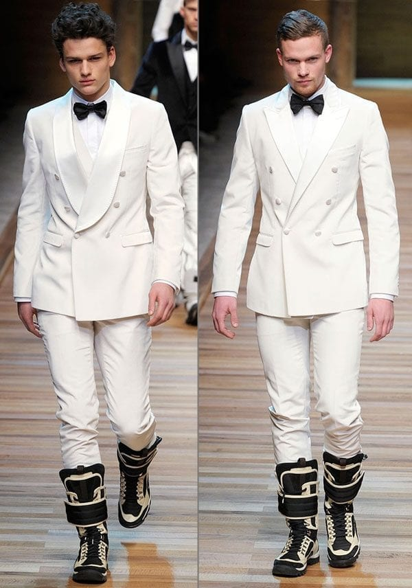 Men double breast suit spring outfit