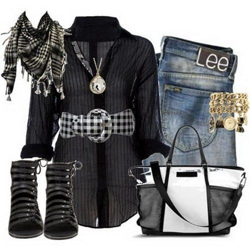 cool striped shirts outfit