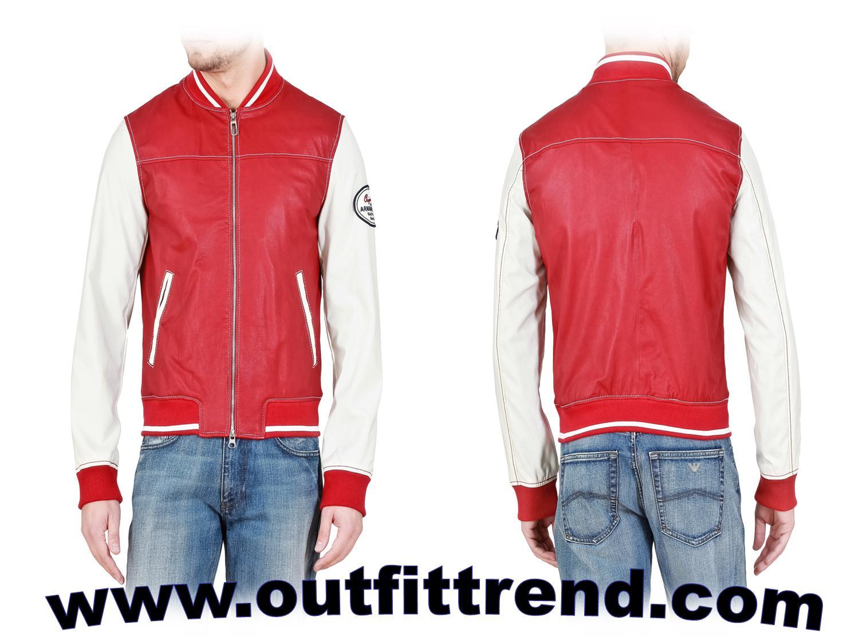 emporio armani boys red jacket