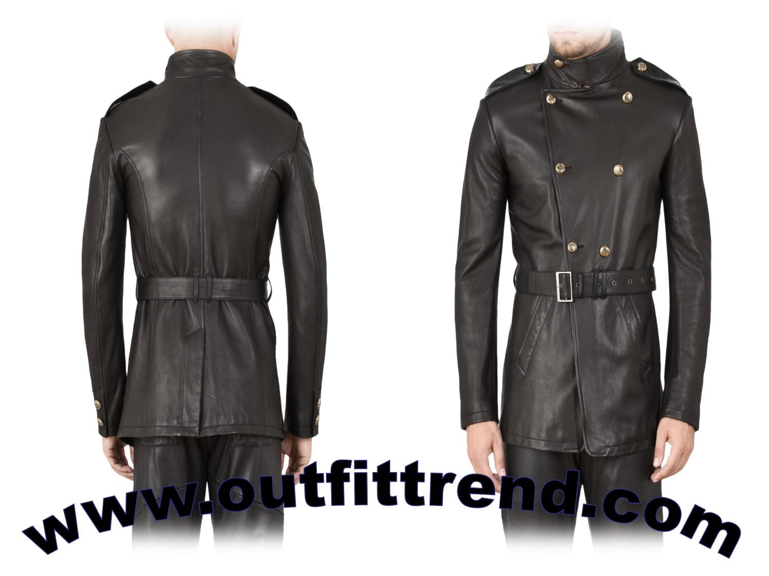 mens balck trench spring outfit