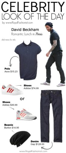 casual fashion outfits of david beckham