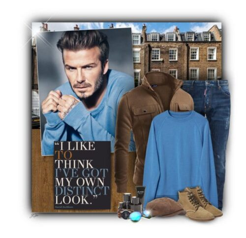 casual outfit combinations of david beckham
