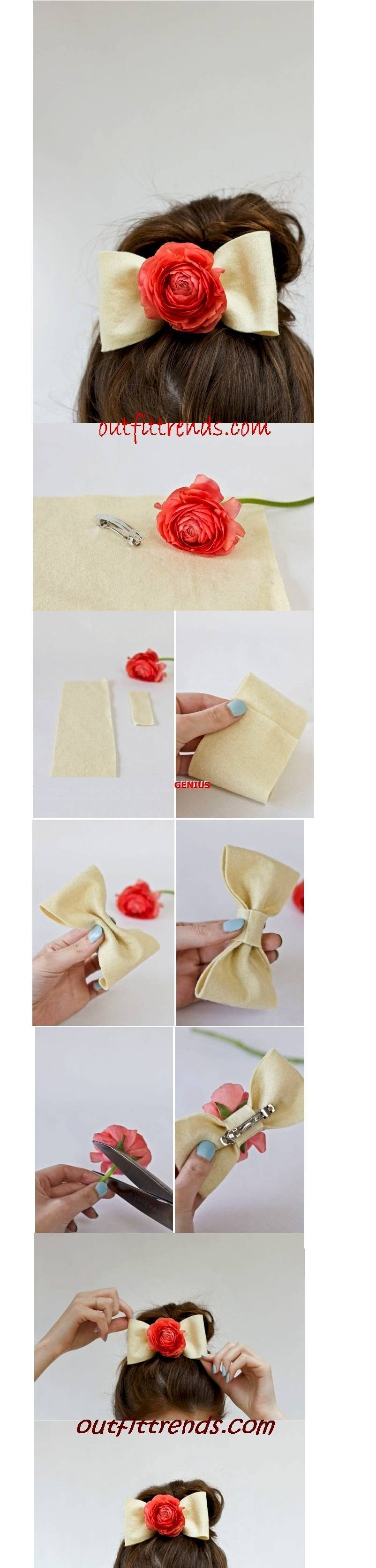 Diy Hair Bows with Flowers