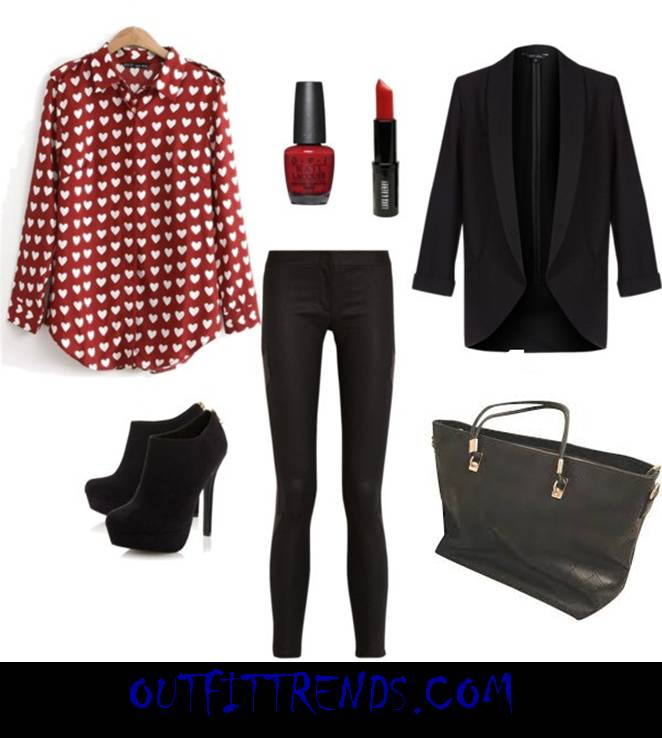 stylish outfits combination for valentine