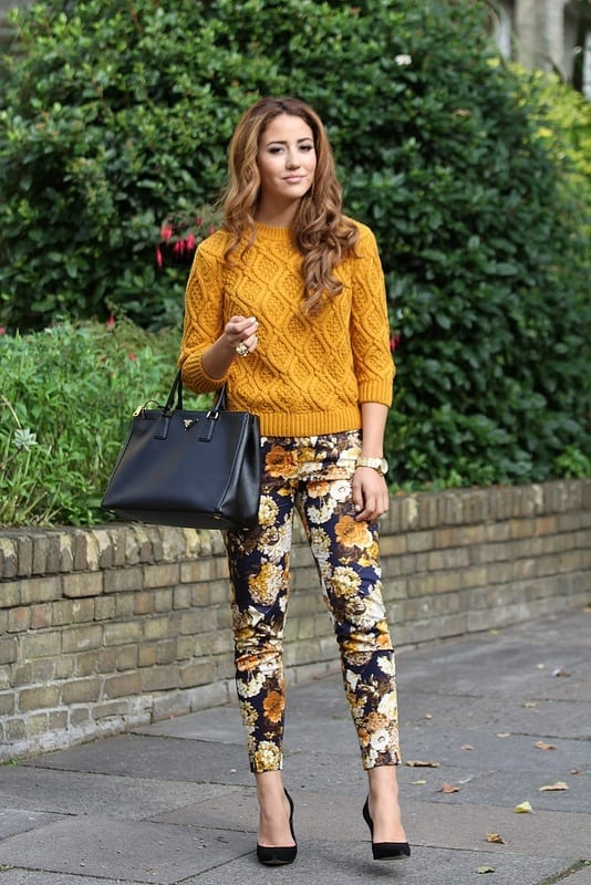 Amazing floral print pants for girls