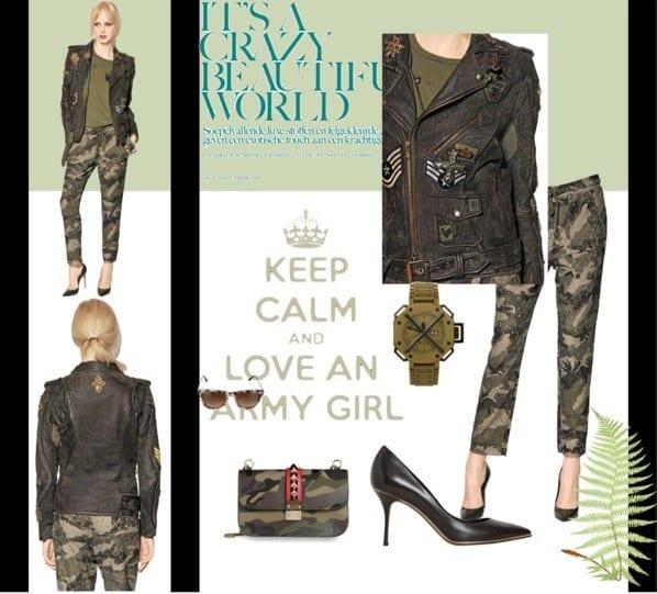 Army Fashion For Girls