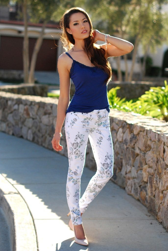 Floral Print Pants for Girls