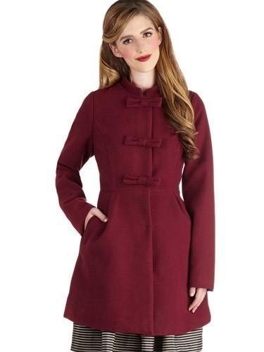 Red long coats for girls