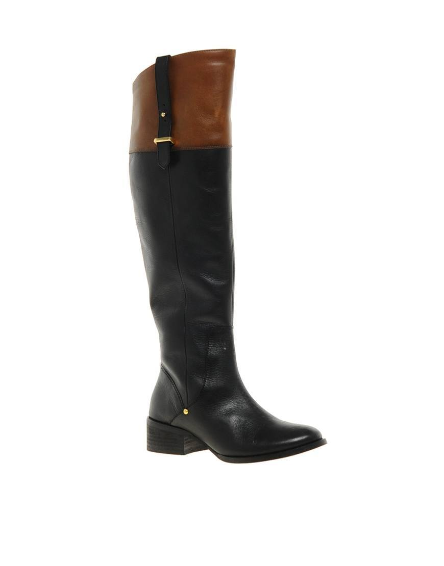 River Island Leather Knee High Boots