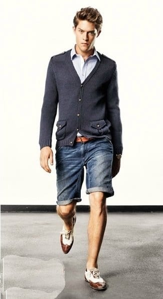 Denim Bermuda Shorts for men