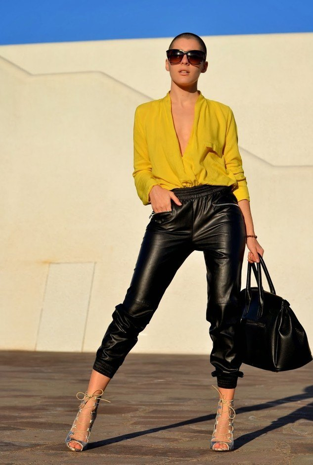 Leather pants fashion trends women