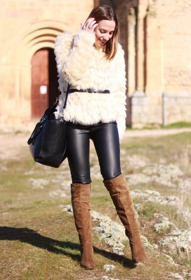 Leather pants with Long boots