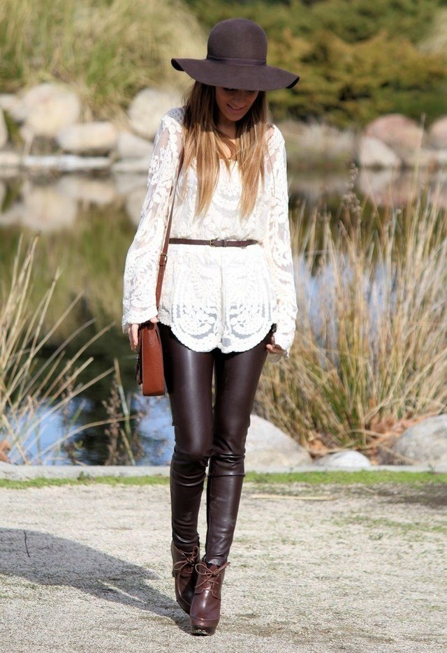What to wear with leather pants women