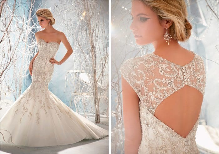 net embroidery gown