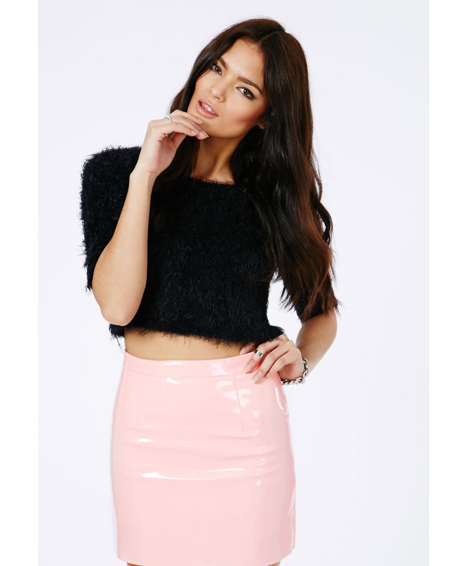 pink mini skirt for women