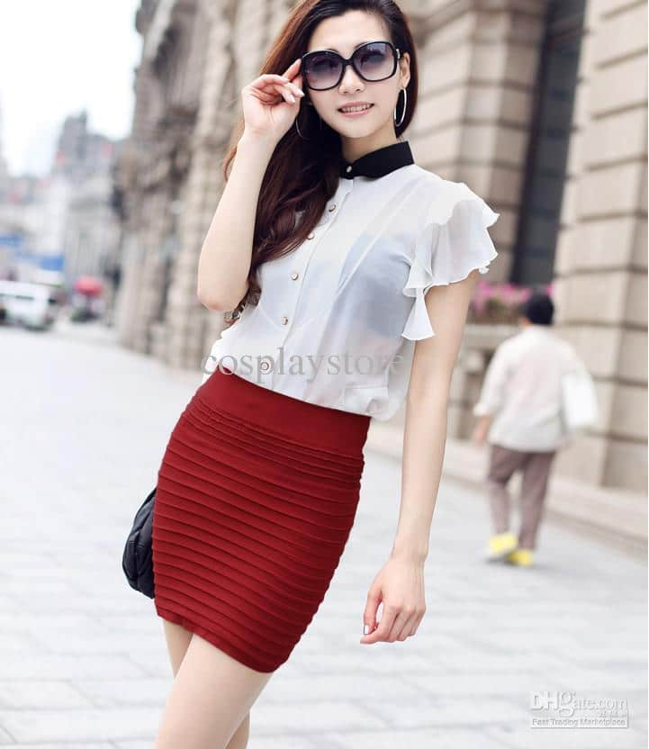 red mini skirt for women