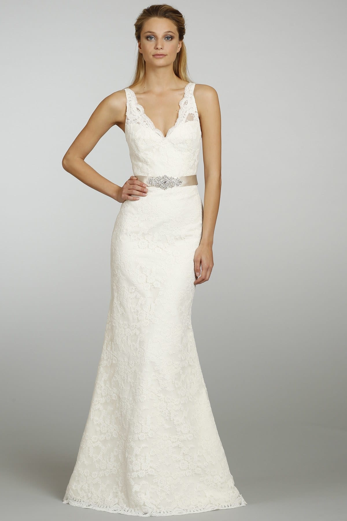 simple belt style gown