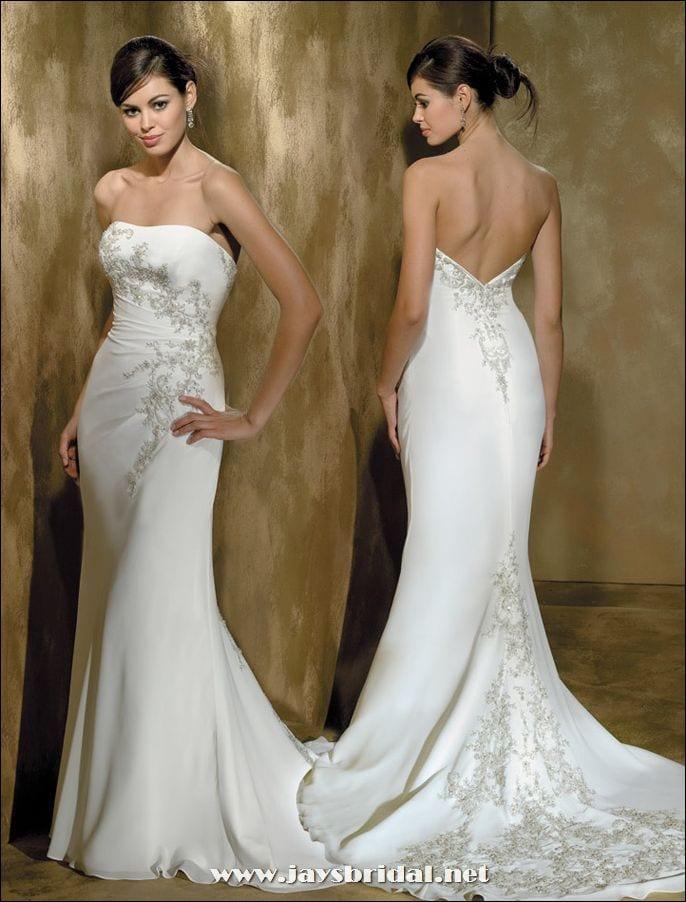 strapless wedding mermaid gown