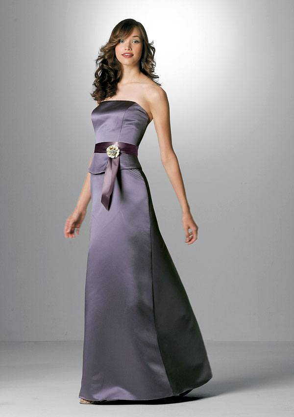 trendy purple strapless dress