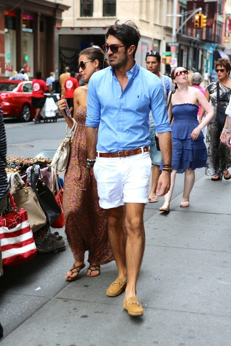 white Bermudas for men