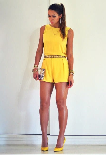 yellow jumpsuits for women