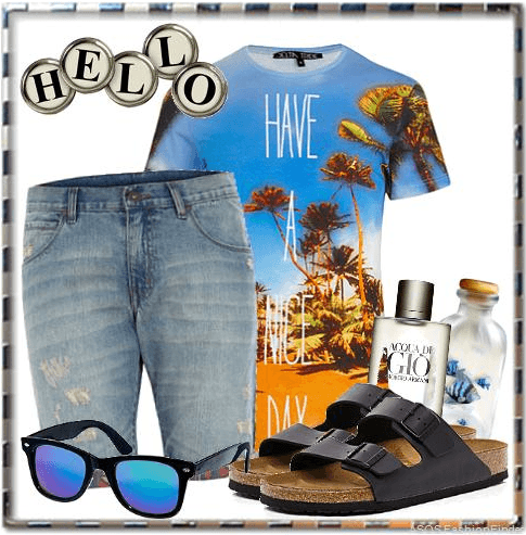 Funky beach outfit combinations men