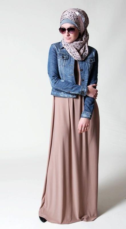 Hijab with denim