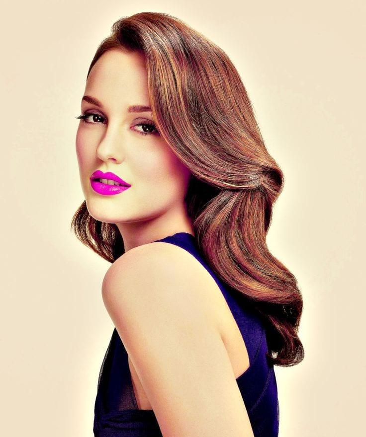 Magenta lips fashion