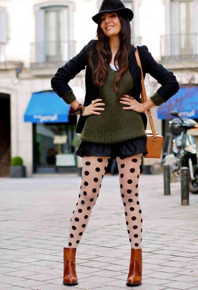 Polka Dot Leggings Fashion