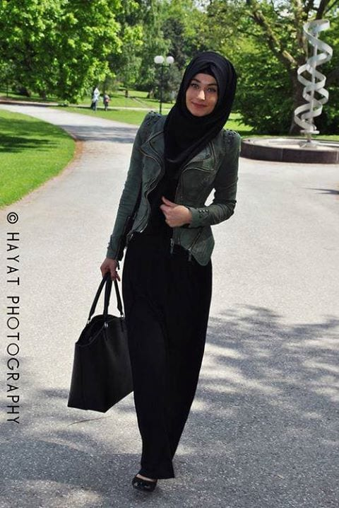 Street style look with hijab