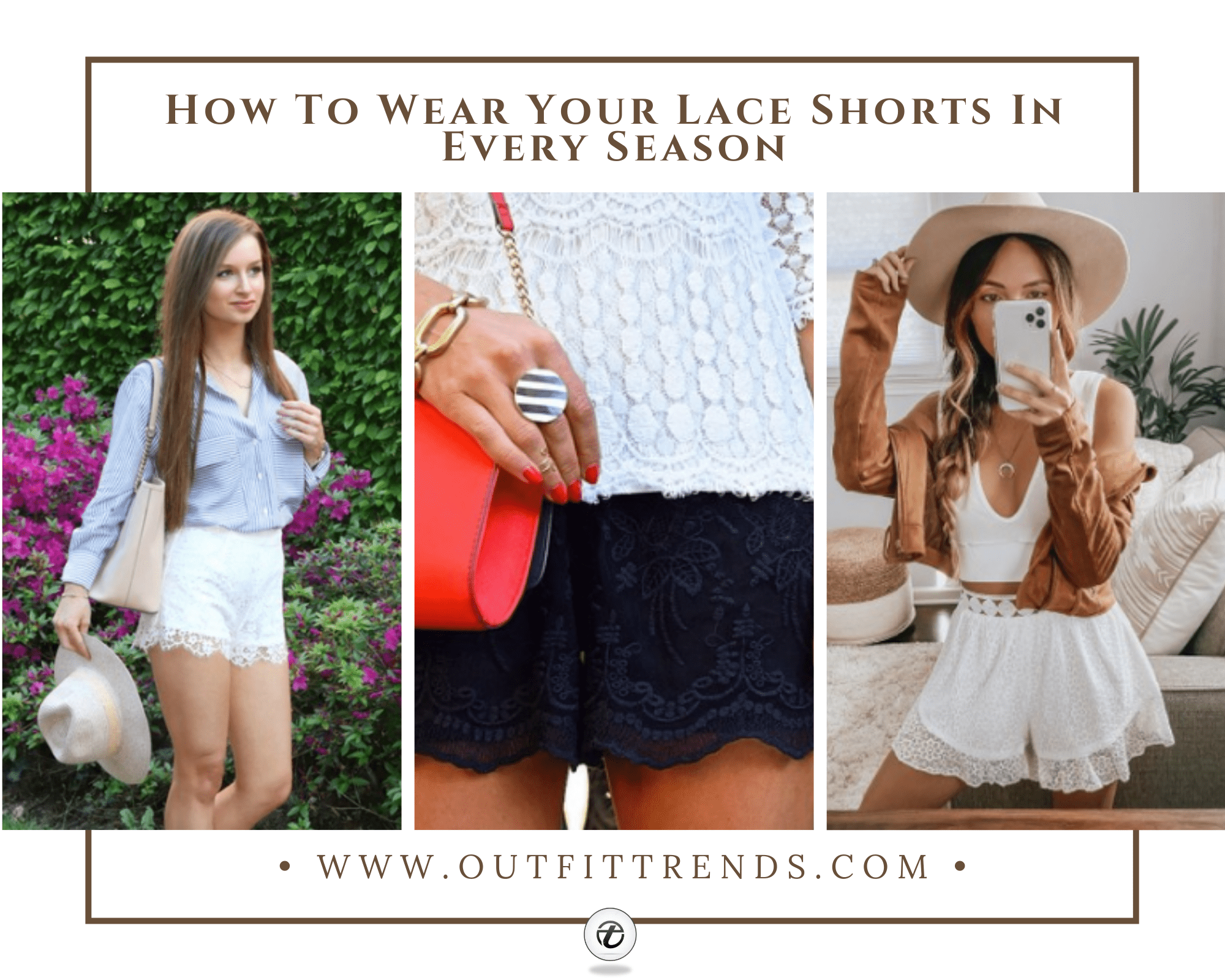 Cute Outfits With Lace Shorts – 20 Ways To Wear Lace Shorts