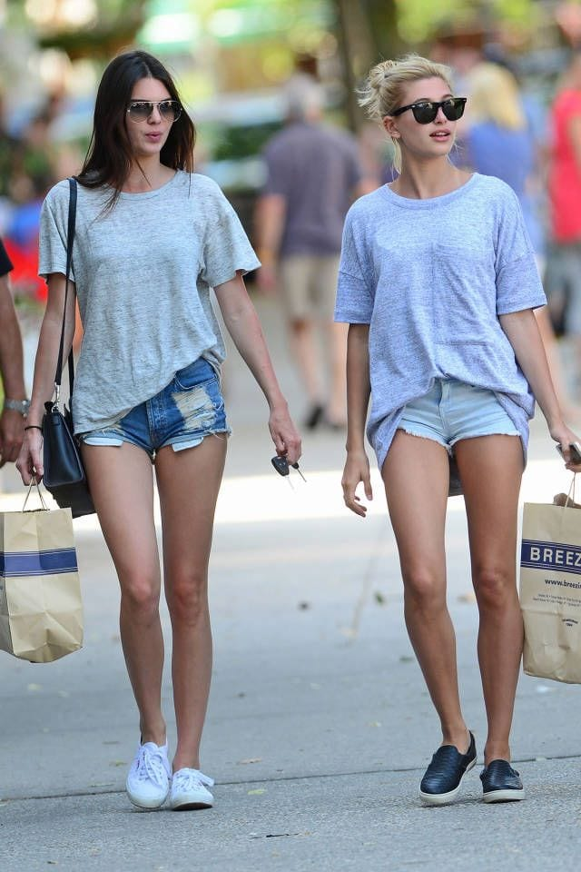 Celebrities in denim outfits