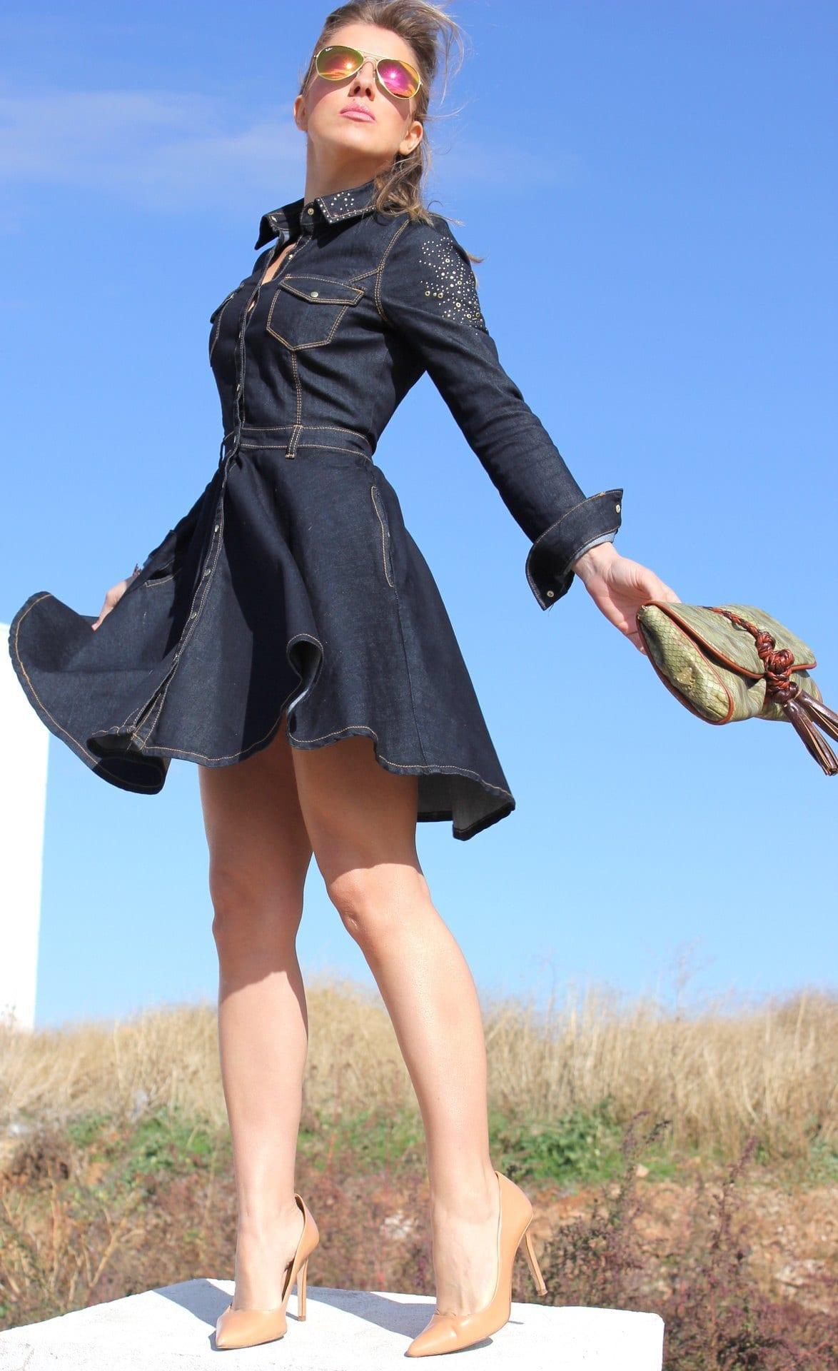 Designers denim dresses