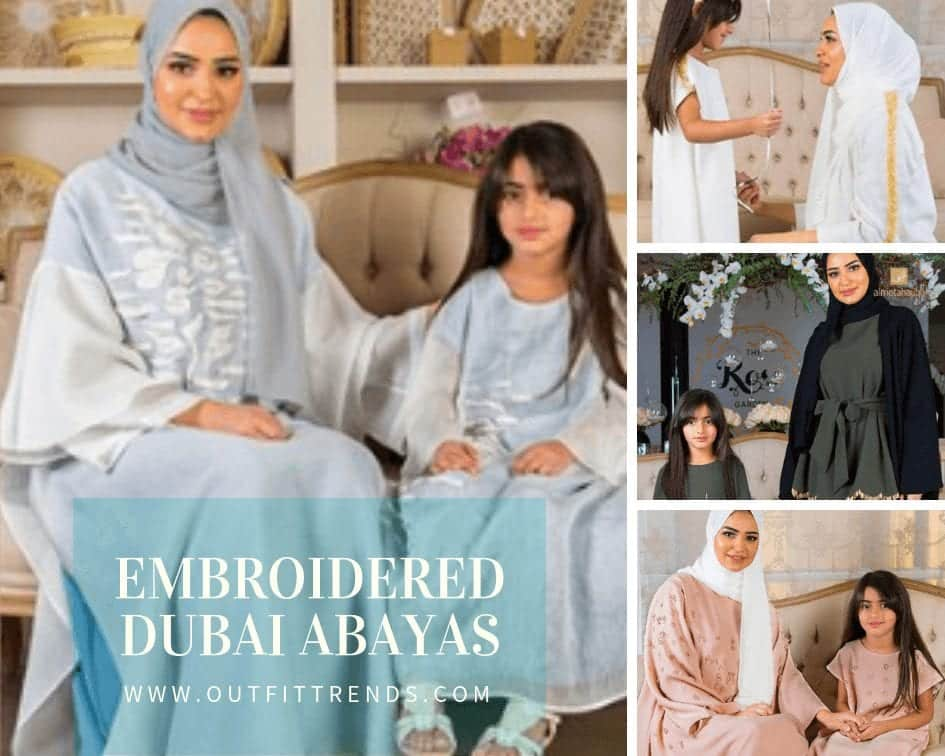 latest dubai embroidered abayas