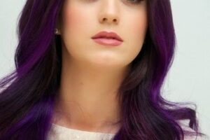 Katy Perry Purple Hairstyle