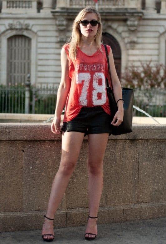 Leather shorts fashion ideas