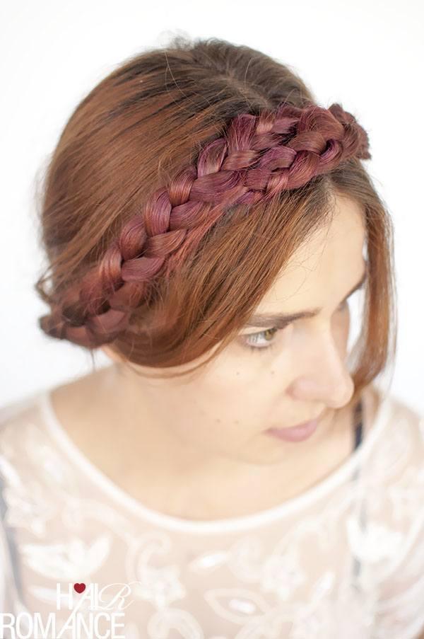 Milkmaid Purple braid hairstyle