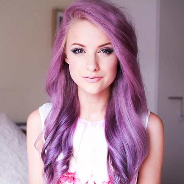 30 Cute Purple Hairstyle for Girls 2018