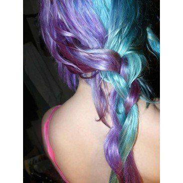 Purple hair chics