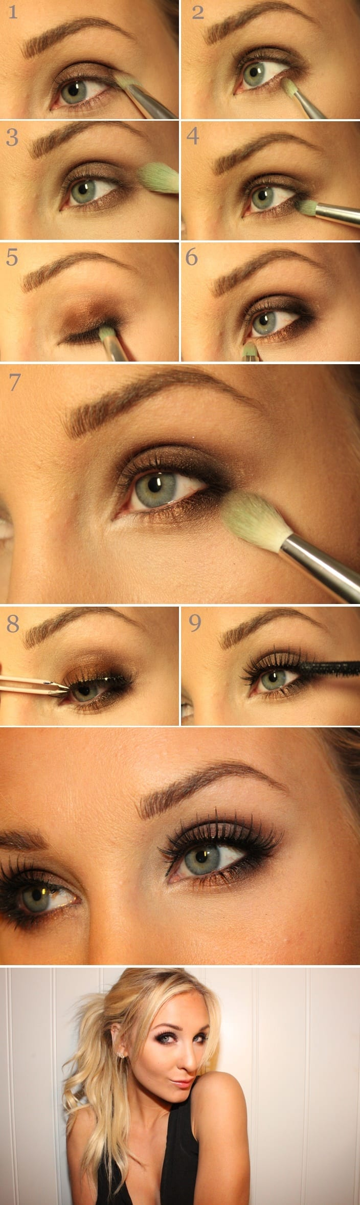Simple Smokey eye makeup tutorial