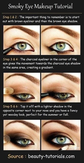 How To do smokey Eye – Tutorial No 1. Smokey Eyemakeup Ideas